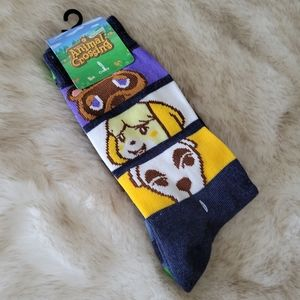 Animal Crossing 2PK Crew Socks